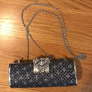 Selini New York Glitter Floral Clutch Bag
